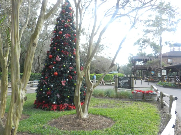 Christmas at Fort Wilderness Cabins outdoor christmas tree
