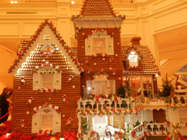 Christmas at the Grand Floridian Resort and Spa life-size ginerbread house