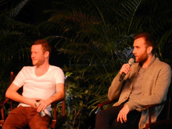 Devon Murray and Matthew Lewis during the Q&A Session