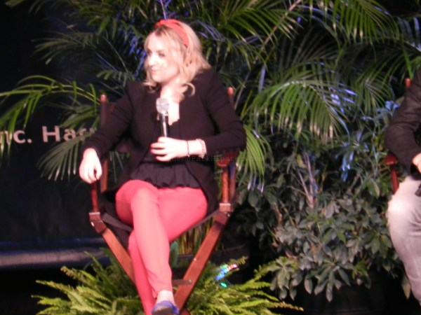 Evana Lynch during the Q&A session