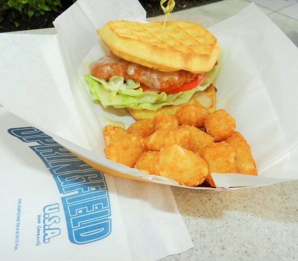 Chicken and Waffle Sandwich from Cletus' Chicken Shack