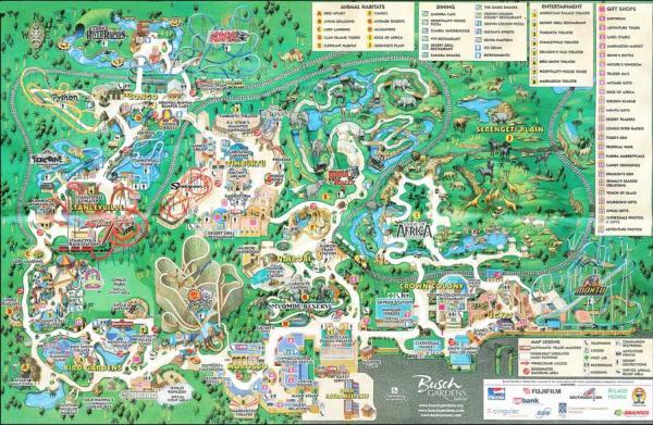 Busch Gardens Map: Florida Life and Leisure