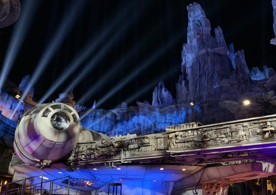 Millenium Falcon at Star Wars: Galaxy's Edge Disneyland