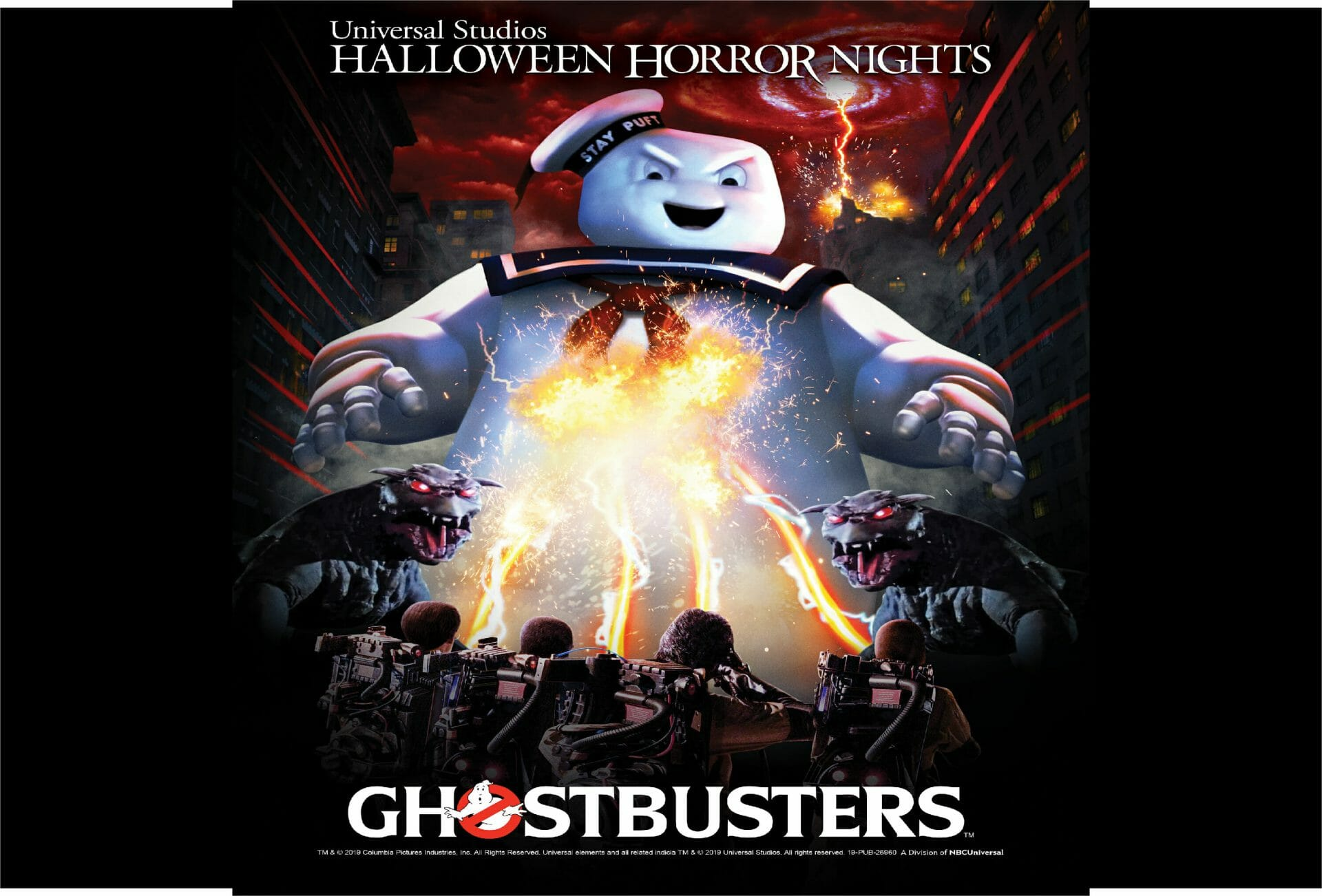 Halloween Horror Nights 2019 Poster.Universal Studios Welcomes Ghostbusters For The First Time