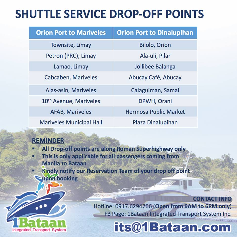 Just 1 Hour New Ferry Service From Manila To Bataan The Mermaid Travels