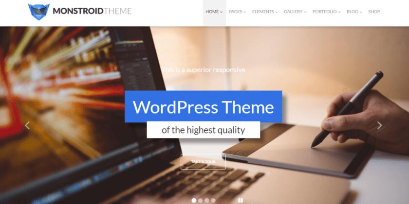 WordPress business theme Monstroid