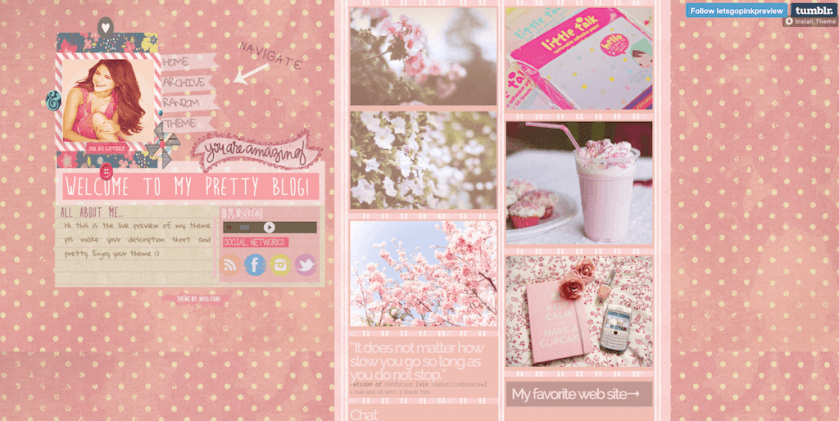 Lets Go Pink Theme
