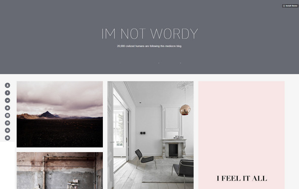 wordy tumblr theme for designers
