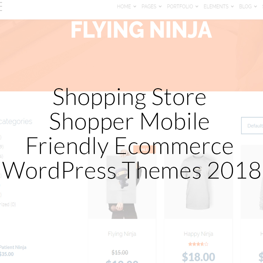 45+ Shopping Store Shopper Mobile Friendly Ecommerce WordPress Themes 2018