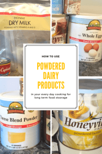 There are TONS of options on how to use different powdered dairy products. read these pros and cons about how to use powdered diary products.