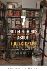 I wouldn't be doing my duty in educating you about it if I didn't share with you the 7 uncomfortable truths about food storage.