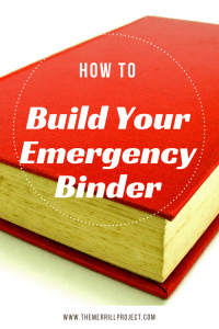 Many families have started to focus on being prepared. Learn step by step instructions on how to build your emergency binder and why you'll need it for more