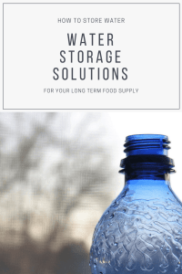 You need to store water right?  But there are 2 problems. 1. You don't know how to store  water. 2. You don't have enough space to store water. Storing water can be tricky. I linked up a couple of top notch posts where you can find some great information to help you past these two water problem points.