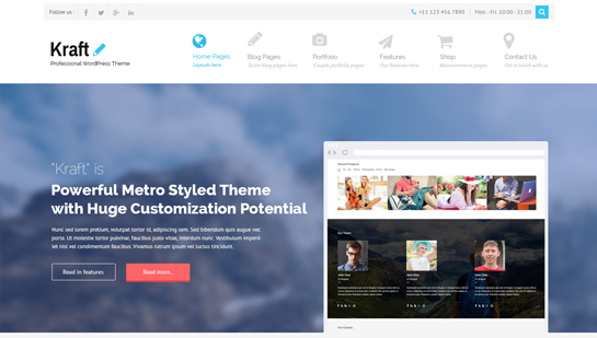 kraft free premium WordPress theme