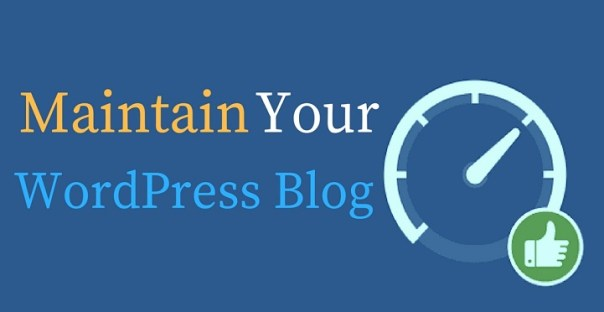 how to maintain WordPress blog