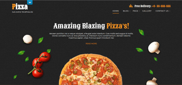 free fast food WordPress theme