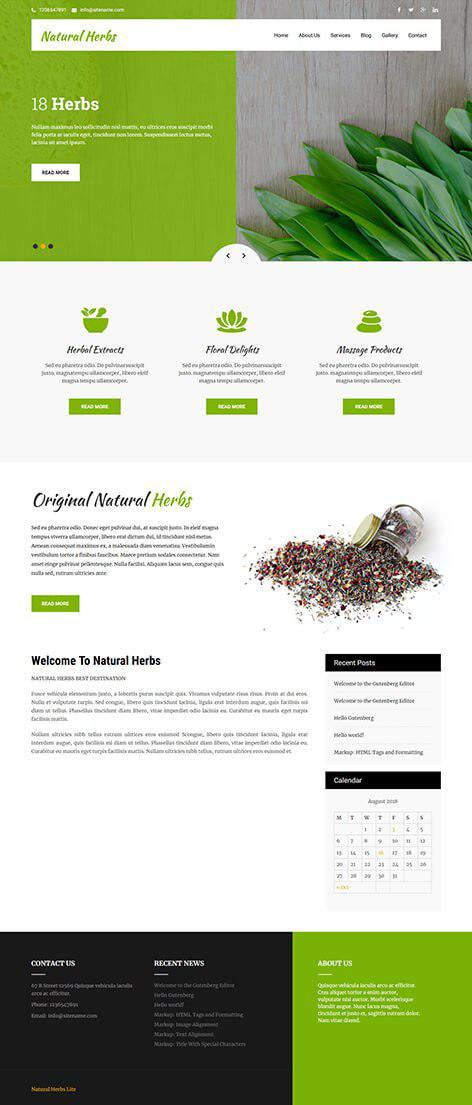 free-herbal-wordpress-theme