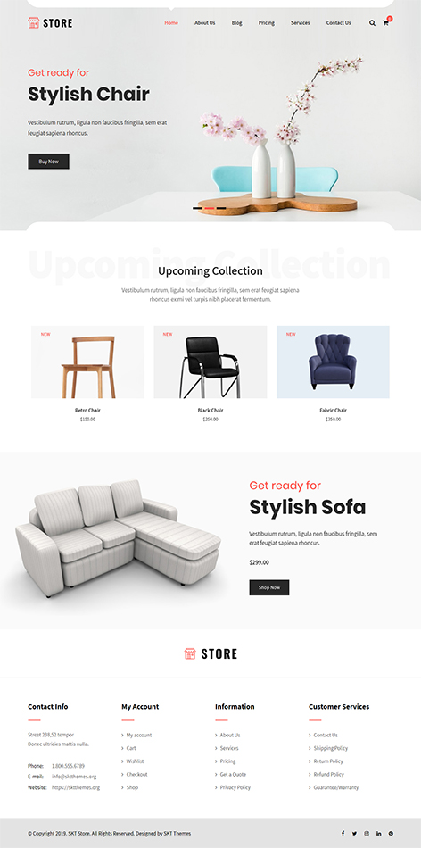 Free estore WooCommerce WordPress Theme