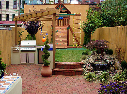 Mind - Blowing And Comfortable Design Ideas for Small City ... on Yard Remodel Ideas id=88042