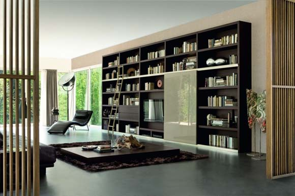 Attractive And Cool Idea Of Bookshelves for Your Home ... on Shelf Sconces For Living Rooms Contemporary id=63979