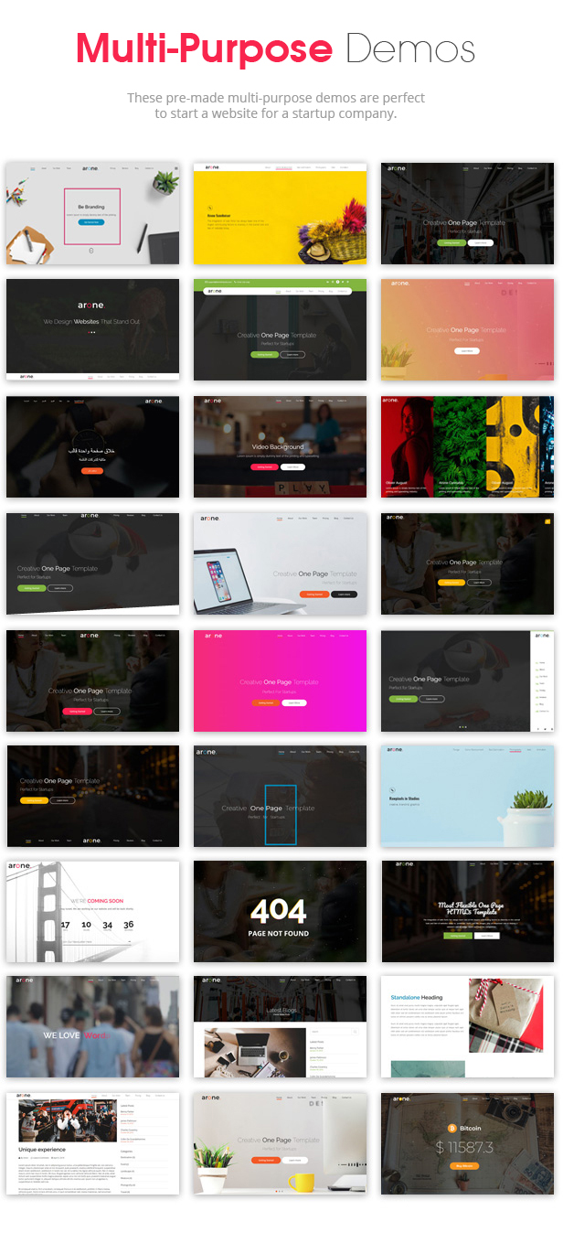 Arone - One Page Parallax - 4