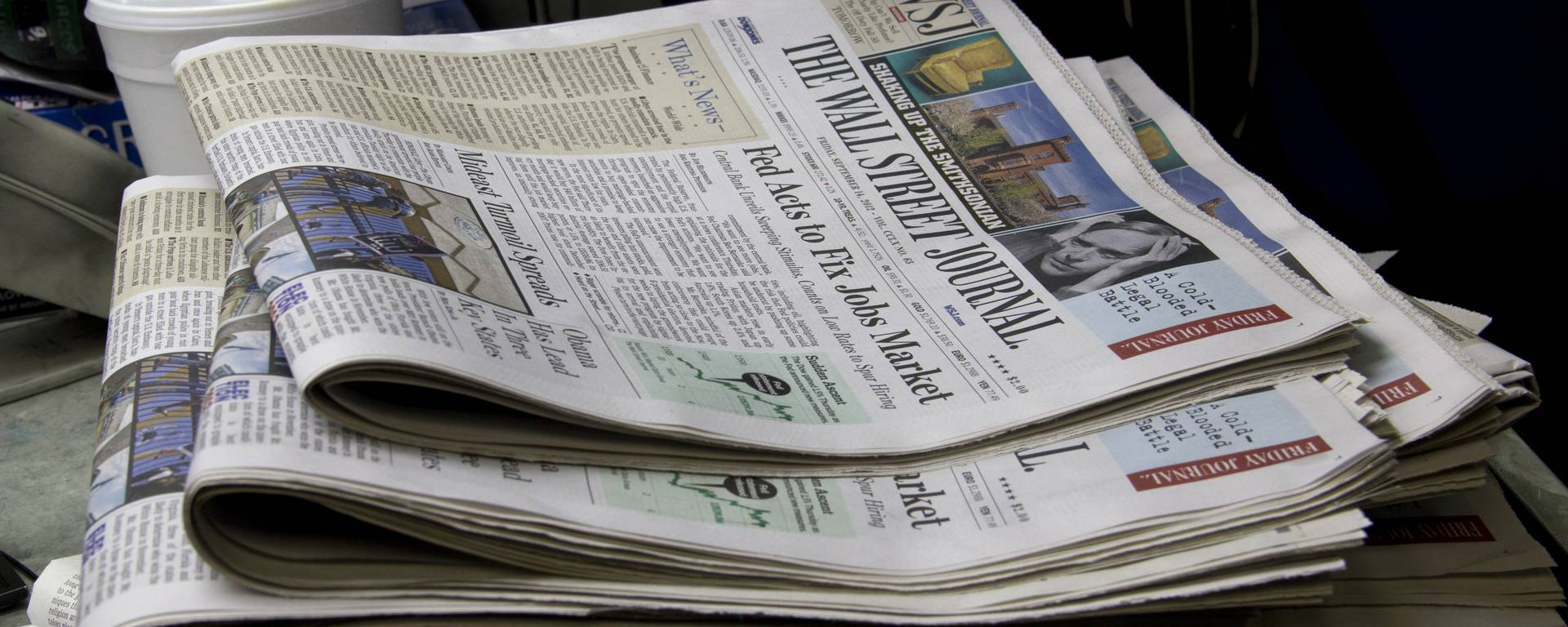 The Wall Street Journal gets printed for delivery in Los Angeles