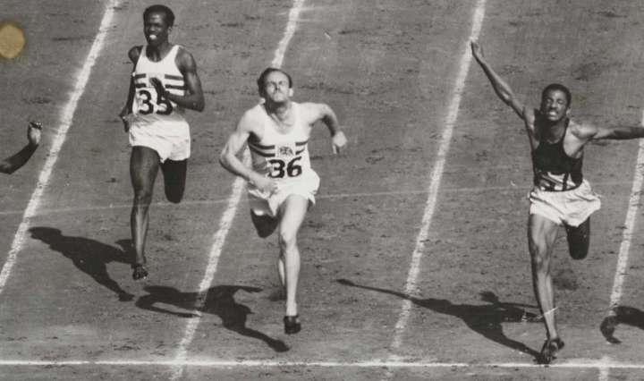 100 metres final, London, 1948