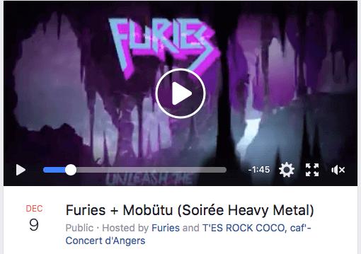 """Furies - Mobutu concert le 9 Décembre 2017 à Angers au T""""es Rock Coco café."""