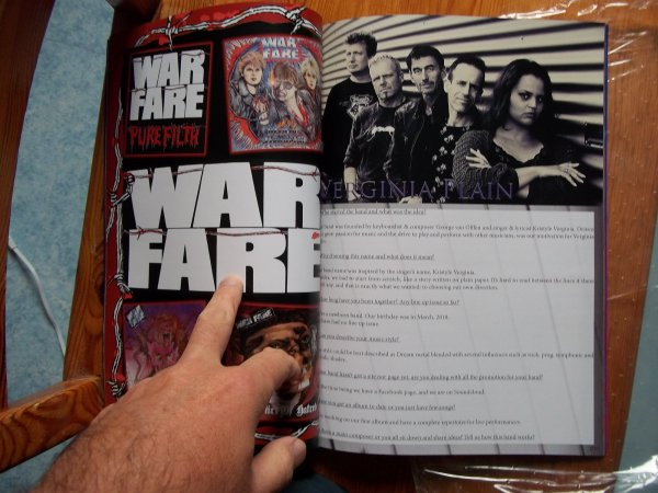 ©The Metal Mag N°25 with Warfare and Virginia Plain