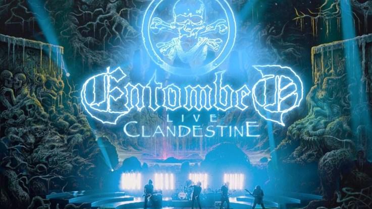 "Entombed : ""Live Clandestine "" CD & LP 17 May 2019 Threeman Records."