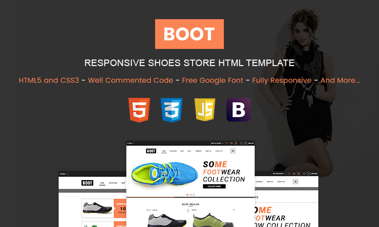 Boot - Responsive Bootstrap Shoes Store HTML Template | ThemeTidy