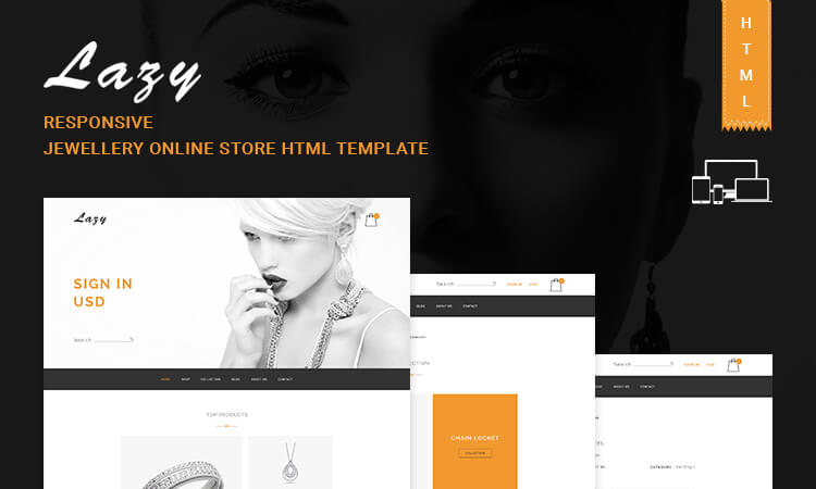 responsive jewellery online store html5 template free download