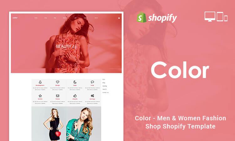 Color - Men & Women Fashion Shop Shopify Template | ThemeTidy