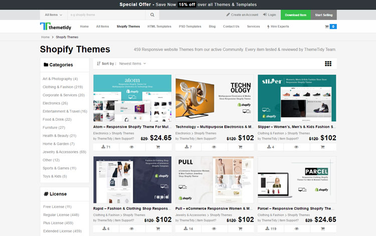 Best Free Premium Shopify Templates Download From Theme Store - Premium shopify templates