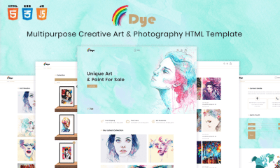 Dye - Multipurpose Creative Shop Art & Photography HTML Template