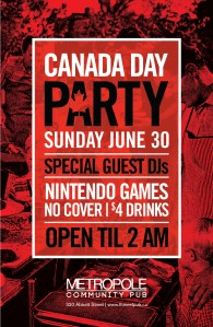 Sunday June 30 - Canada Day Party