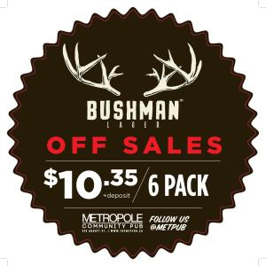 July 2013 - Off sales - Bushman