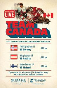 Team Canada Hockey Games