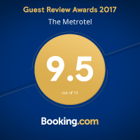 the metrotel booking.com rating