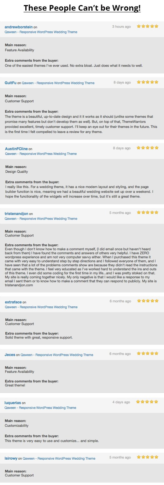Qaween Wedding Theme Reviews
