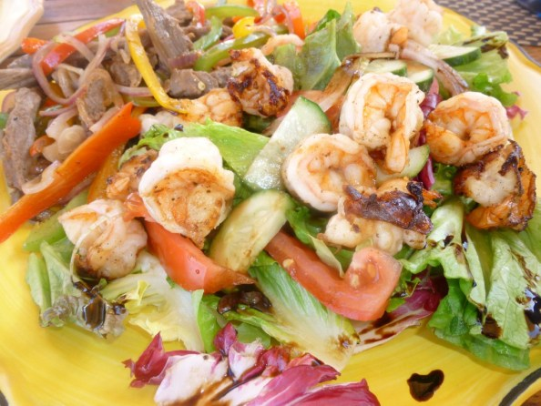 Fresh shrimp salad for lunch