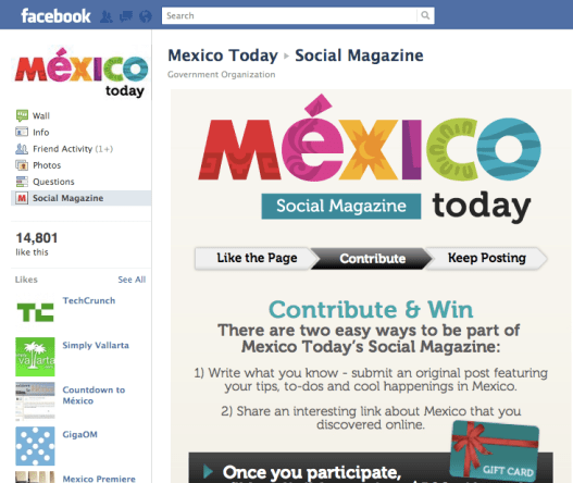 Mexico Today Social Magazine on Facebook