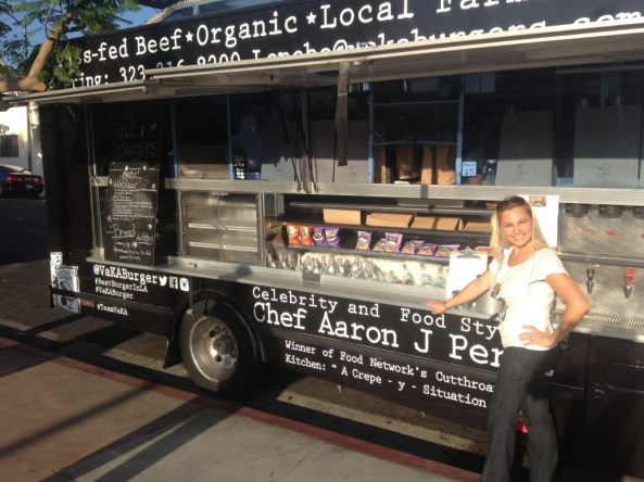 Creator of The Mexico Report and Mexico Culinary Series, Susie Albin-Najera at Vaka Burger Food Truck, Los Angeles. © The Mexico Report