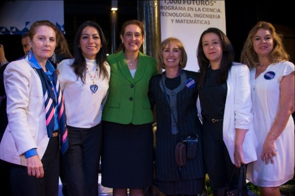 1,000 Girls 1,000 Futures Program in Mexico; Rebeca with Martha Laris, SEP Puebla, Cristina Cardenas Peralta from the office of the Mexican President and mentors from Volkswagen