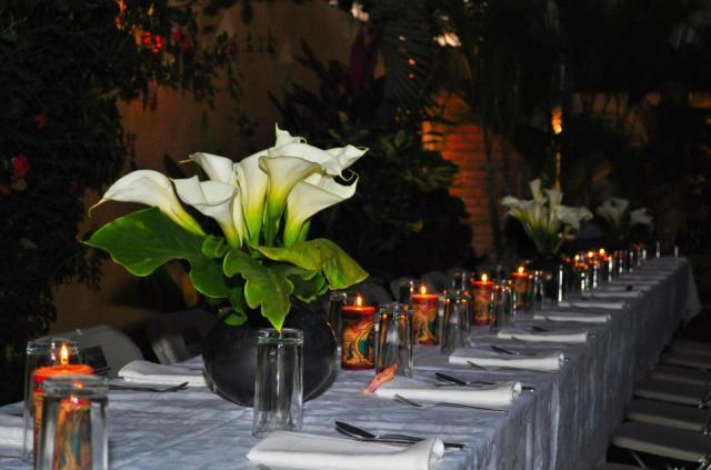 Erica and Ken's Wedding Table.