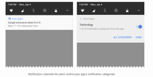 Android O notification channel