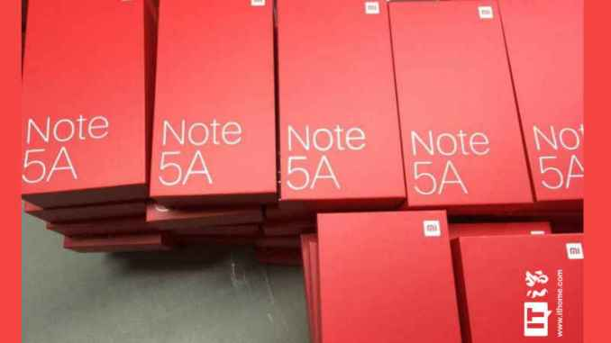 Redmi Note 5A Leaked Box