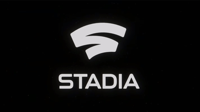 Stadia game streaming service