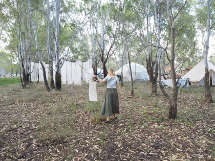 Melbourne Macrame Wedding Arch Hire, Macrame Workshops, The Middle Aisle, Maggie May Macrame, Strawberry Fields 2016