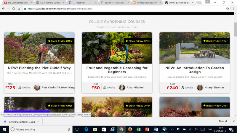 The award-winning My Online Garden school website